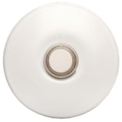 Wired Lighted Stucco Door Bell Push Button, White for Prime Chime Door Bell Kit