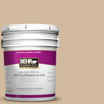 5-gal. #S280-3 Practical Tan Eggshell Enamel Interior Paint