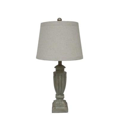 #6171 26 in. Antique Green Resin Table Lamp