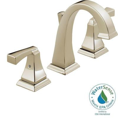 Dryden 8 in. Widespread 2-Handle High-Arc Bathroom Faucet in Polished Nickel