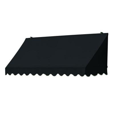 4 ft. Traditional Awning Replacement Cover (25 in. Projection) in Ebony