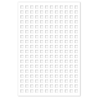 1/4 in. x 32 in. x 4 ft. White Square Vinyl Decor Panel