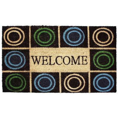 Circles 18 in. x 30 in. Vinyl Back Coco Door Mat