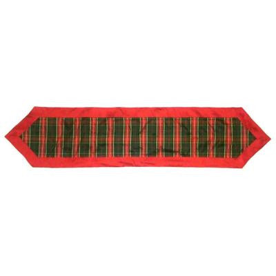 72 in. Red Tartan Plaid Table Runner