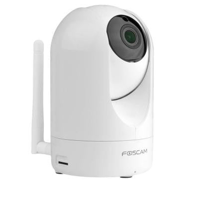 Wireless FHD 1080P Indoor Plug and Play IP Camera with Night Vision up to 24 ft. Wide 110° Viewing Angle - White