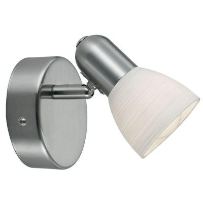 Dakar 1-1-Light Matte Nickel Wall Light