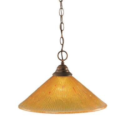Concord 1-Light Bronze Incandescent Ceiling Pendant
