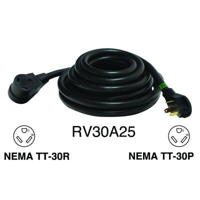 25 ft. 30 Amp 10/3 Recreational Vehicle Extension Cord