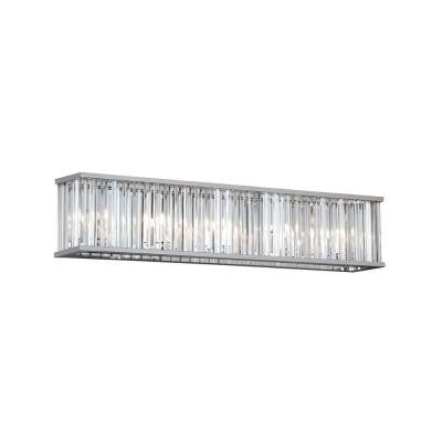 Aruba 5-Light Polished Chrome Vanity Light with Crystals