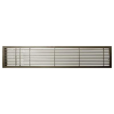 AG20 Series 6 in. x 24 in. Solid Aluminum Fixed Bar Supply/Return Air Vent Grille, Antique Bronze with Left Door