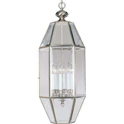 6-Light Brushed Nickel Foyer Pendant