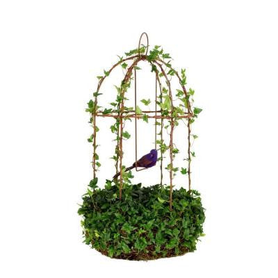 8 in. Grand Ivy Rustica Bird Cage