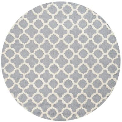 Cambridge Silver/Ivory 6 ft. Round Area Rug