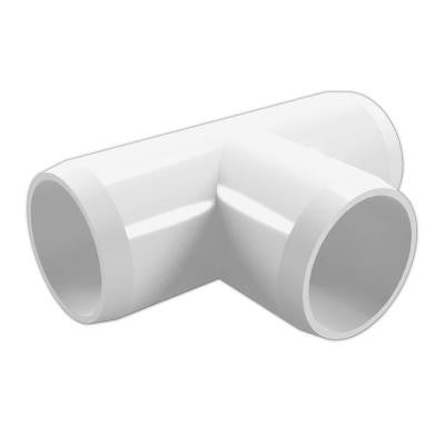 2 in. Furniture Grade PVC Tee in White (4-Pack)