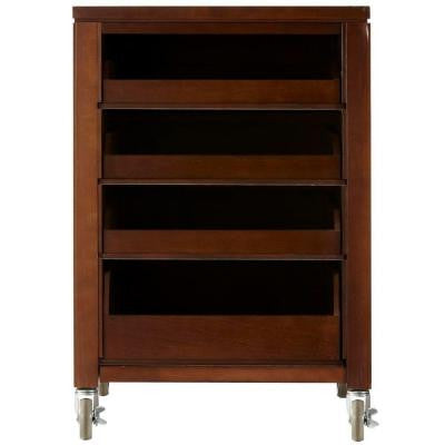 31 in. H Sequoia Space Cart with 4-Pull Out Trays