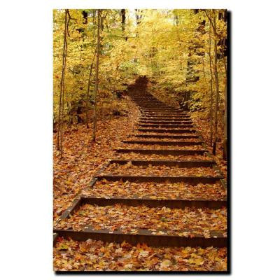 18 in. x 24 in. Fall Stairway Canvas Art