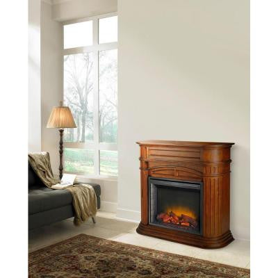 Turin 46 in. Electric Fireplace in Chestnut