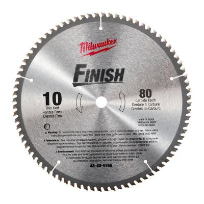 10 in. x 80 Carbide Tooth Circular Saw Blade