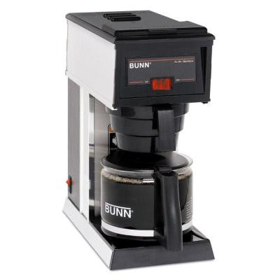 10-Cup Commercial Pourover Coffee Brewer in Black