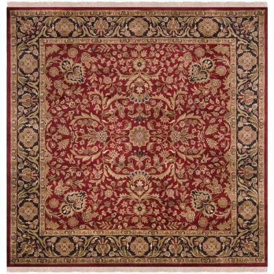 Layton Red 8 ft. Square Area Rug