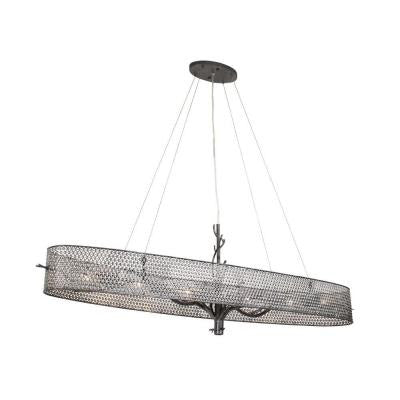 Treefold 6-Light Steel Linear Pendant