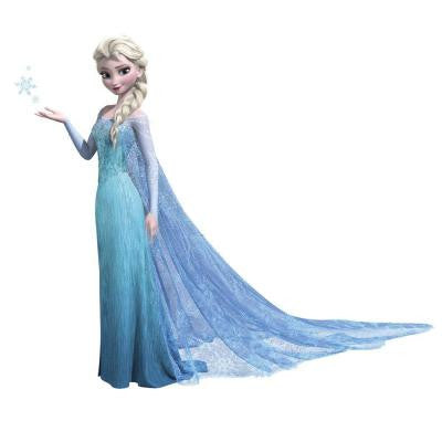 5 in. x 19 in. Frozen Elsa Peel and Stick Giant Wall Decals