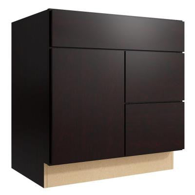 Fiske 30 in. W x 31 in. H Vanity Cabinet Only in Coffee