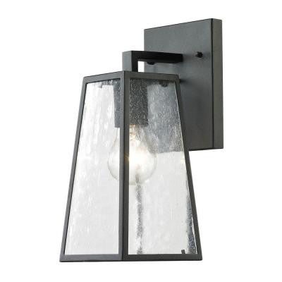 Mediterano 1-Light Charcoal Outdoor Wall Mount
