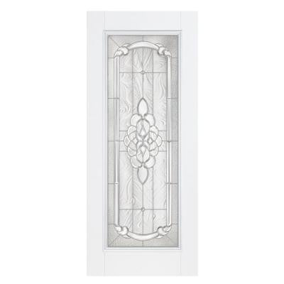 36 in. x 80 in. Oakville Full Lite Primed Smooth Fiberglass Prehung Front Door with No Brickmold