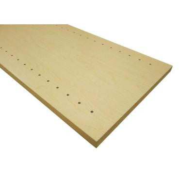 3/4 in. x 12 in. x 48 in. Hardrock Maple Thermally-Fused Melamine Adjustable Side Panel