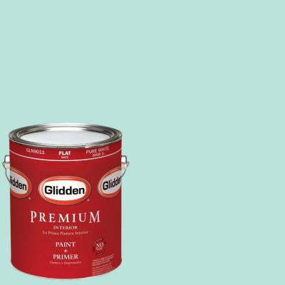 1-gal. #HDGB31D Biscayne Blue Flat Latex Interior Paint with Primer