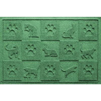 Light Green 24 in. x 36 in. Cat in the Mat Pet Mat