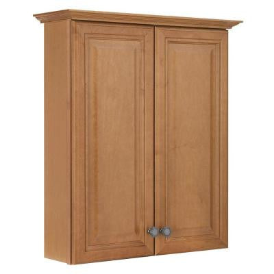 Cambria 25-1/2 in. W Maple Bath Storage Cabinet in Harvest