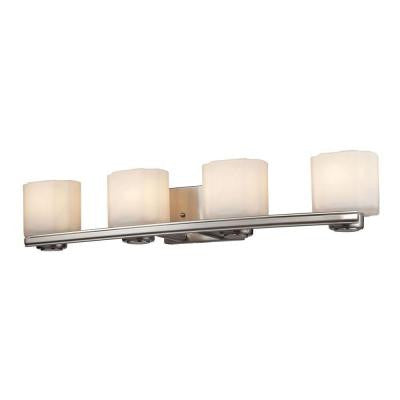 New Haven 32 in. 4-Light Brushed Nickel Vanity Light