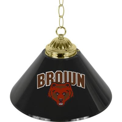 Brown University 14 in. Single Shade Brass Hanging Lamp