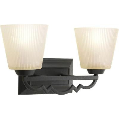 Meeting Street Collection 2-Light Forged Black Bath Light