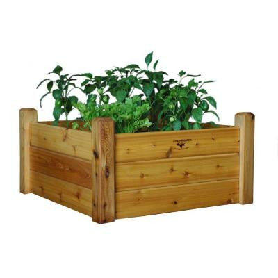 34 in. x 34 in. x 19 in. Safe Finish Raised Garden Bed