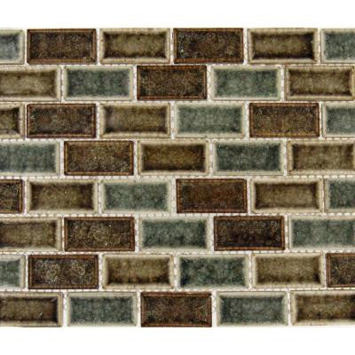 Fossil Canyon 12 in. x 12 in. x 8 mm Glass Mesh-Mounted Mosaic Tile