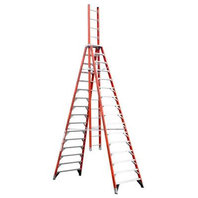 16 ft. Fiberglass Extension Trestle Step Ladder with 300 lb. Load Capacity Type IA Duty Rating