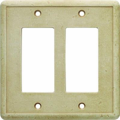 2 GFCI Wall Plate - Travertine