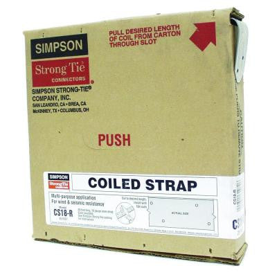 25 ft. 18-Gauge Coiled Strap