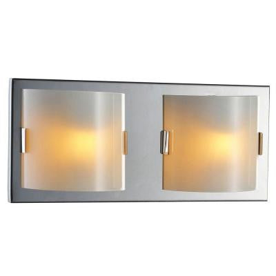 Luna Collection 2-Light Chrome Wall Vanity Light