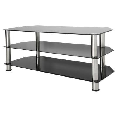 Glass and Chrome TV Stand for 55 in. TVs