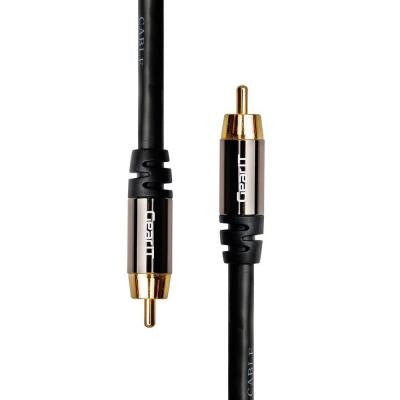 3 ft. RCA Subwoofer Audio Cable with Gold Plated - Black (2-Pack)