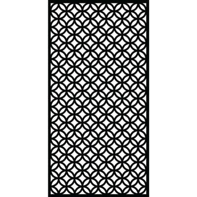 0.3 in. x 71 in. x 2.95 ft. Halo Recycled Plastic Charcoal Decorative Screen