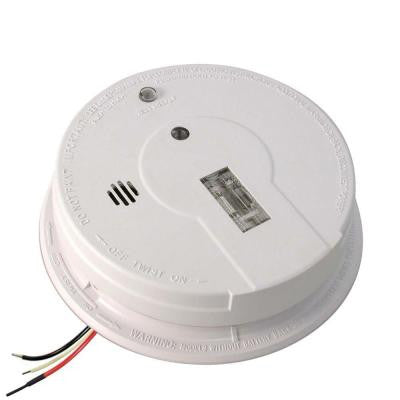 Hardwired 120 Volt Inter-Connectable Ionization Smoke Alarm with Escape Light and Battery Backup i12080
