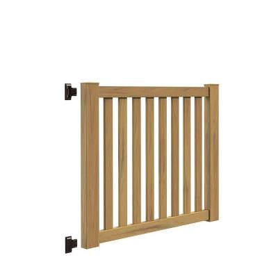 Ohio 5 ft. x 4 ft. Cypress Vinyl Un-Assembled Fence Gate