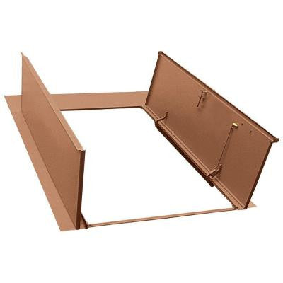 Sloped Wall 55.25 in. x 78 in. Primed Steel Cellar Door