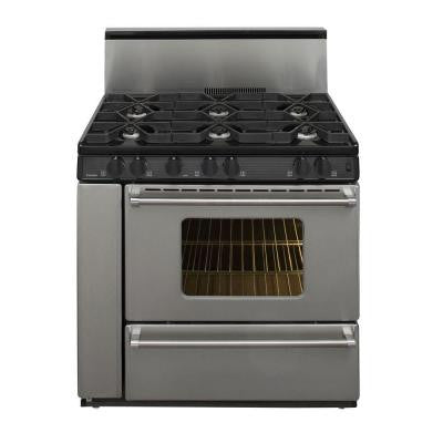 ProSeries 36 in. 3.91 cu. ft. Freestanding Gas Range in Stainless Steel