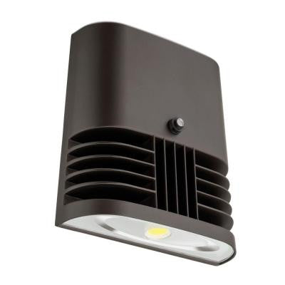 40-Watt Outdoor Bronze LED Low Profile Wall Pack